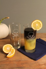 Skull and Cross Bones Cooler Glasses - rum cocktails image