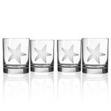 Starfish Etched DOF Glasses - Set of 4