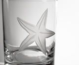 Starfish Etched DOF Glasses - Set of 4 close up