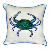Male Blue Crab Beach House Pillow