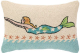 Blonde Diving Mermaid Hooked Pillow