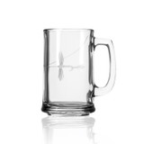 Fly Fishing Etched Beer Glasses - set of 4 single glass