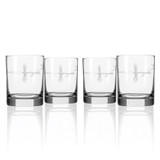 Fly Fishing Etched DOF Glasses - Set of 4