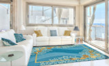 Shells and White Coral Area Rug-room scene