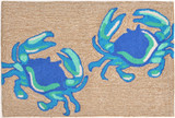 Bright Blue Crabs Area Rug
