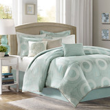 Aqua Baxter Bedding Set - Queen Size