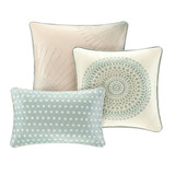 Aqua Baxter Bedding Set  - Decorative Pillows