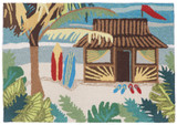 Aloha Tiki Hut Accent Rug