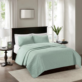 Hudson Bay Seafoam Green Queen Size Coverlet Set