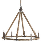 Bowline Nautical Roped Chandelier