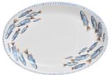 Blue School of Fish Oval Platter