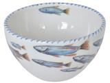 Blue School of Fish Dessert Bowls - set of 6