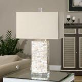 Elegant Capiz Shell Tiled Lamp