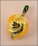 Gold Swirled Snail Shell Ornament