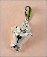Silver Strombus Shell Ornament