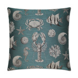Vintage Inspired Turquoise Seafaring Pillow