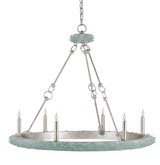 Tidewater Aqua Sea Glass Chandelier