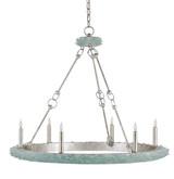 Tidewater Aqua Sea Glass Chandelier