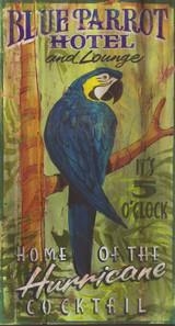 Blue Parrot Hotel Art Sign