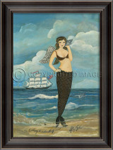 Listening to a Love Song Mermaid Art
