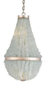 Aqua Sea Glass Platea Chandelier