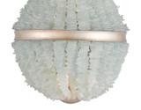 Aqua Sea Glass Platea Chandelier close up image