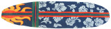 Surfboard Rug Hawaiian Navy Blue view 2