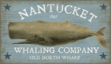 Nantucket Whaling Art Sign