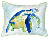 Bright Blue Sea Turtle Indoor-Outdoor Pillow