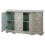 Sophie Sea Grey Coastal Cabinet doors open