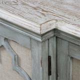 Sophie Sea Grey Coastal Cabinet top view