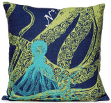 Navy Ocean Octopus Luxury Pillow