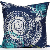 Navy Ocean Troca Shell Luxury Pillow