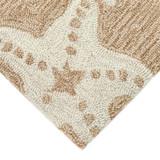 Starfish Tan and Ivory Area Rug corner close up 2