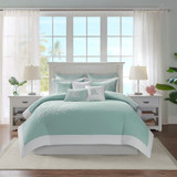 Aqua Blue Coastline Duvet Collection - Queen Size room 1