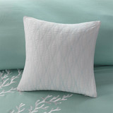 Aqua Blue Coastline Duvet Collection - King Size close up 3 with deco pillow