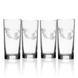 Mermaid Etched 15 oz. Cooler Glasses - Set of 4