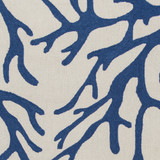 Blue Coral Reef Hand Hooked Rug close up