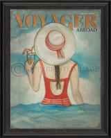 Voyager Abroad Art -  May 1991 - black frame