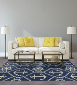 Navy Blue Marina Area Rug-room scene