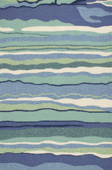 Ocean Lagoon Waves Area Rug
