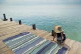 Ocean Lagoon Waves Area Rug-beauty