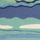 Ocean Lagoon Waves Area Rug close up 2