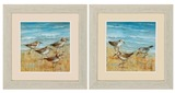 Sandpiper Framed Prints -Set of 2