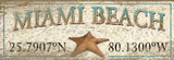 Custom Latitude-Longitude Starfish Art Sign
