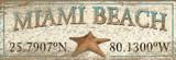 Starfish Art Custom Latitude-Longitude Beach Sign