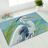Blue Heron Hooked Accent Rug floor view