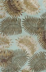 Aqua Tropic Fern View Rug