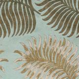 Aqua Tropical Fern Plush Wool Rug close up image