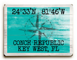 Custom Latitude-Longitude Sign - Sea Green